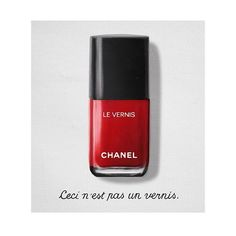 chanelofficial: Colour is an art. Tribute to René Magritte. Made with LE VERNIS DE CHANEL. #chanelnailpolish #nailpolish #chanelbeauty #magritte