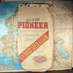 Antique Pioneer Hybrid Seed Corn Bag by ChompMonster on Etsy, $10.00