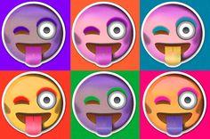 L'emoji «clin d'œil qui tire la langue» par Warhol.