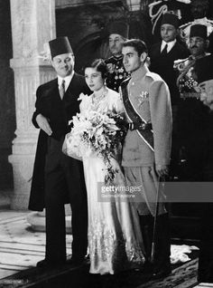 1939: Wedding Of Shah Of Iran With Fawzia Princess, King Farouk Of Egypt Sister.