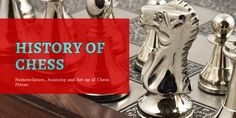 A Brief History of Chess - NOMENCLATURE | ANATOMY | SET UP OF CHESS PIECES ♜ Read our more in-depth look at #chess history here History Of Chess, Wood Chess Board, Chess Pieces, Mall, Anatomy, The Originals, Template, Artistic Anatomy