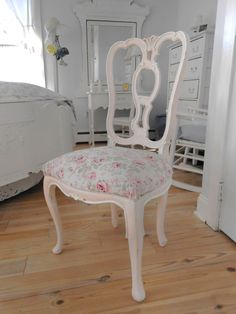 SOLD Chair Rachel Ashwell shabby chic furniture painted by backporchco, $179.00