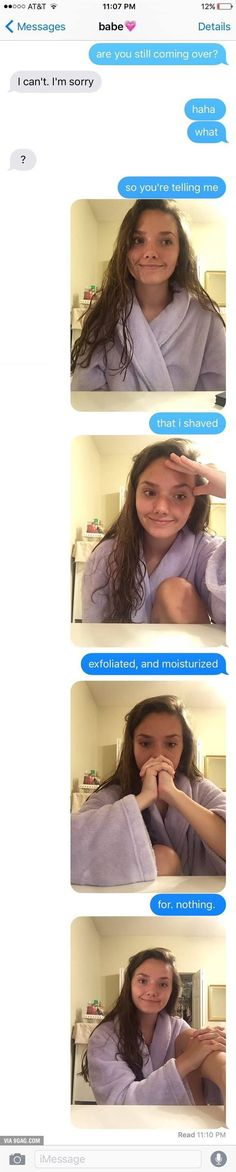 Hilarious Text Messages About A Girl vs. Cancelled… Hilarious Text Messages About A Girl vs. All Meme, Stupid Funny Memes, Funny Relatable Memes, Funny Posts, Funny Shit, Funny Stuff, Funny Memes About Girls, Funny Fails, Humor Videos