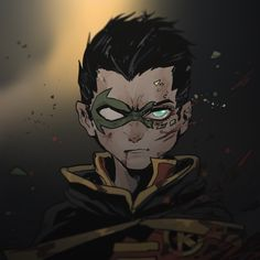 Damian Wayne as Robin Batman Robin, Robin Superhero, Son Of Batman, Robin Dc, Batman Art, Batman Arkham, Damian Wayne, Batgirl, Nightwing