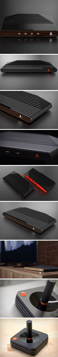 Teased at CES back in June/July, the Ataribox home finally begins its pre-orders this Thursday, and I can't wait. The device will have a custom AMD processor and run Linux, giving the Ataribox the capability of playing both classic Atari games and mid-tier PC titles. The Ataribox comes in two eye-catching finishes – a sleek glossed black with either a wood finish combination or an all glossed black look with red highlights.