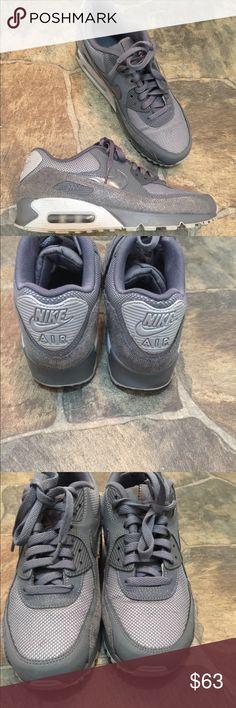 Dark Grey Nike Air Max 90 size 9 Dark Grey Nike air max 90. Barely worn minimum wear visible on shoes. Nike Shoes Sneakers