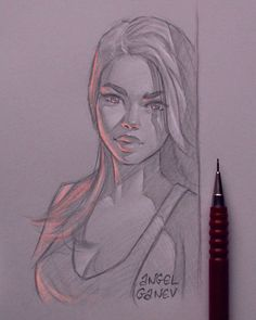 Leaning - Day # 363 von AngelGanev - various character art - Kunst Girl Drawing Sketches, Pencil Art Drawings, Cool Drawings, Panda Drawing, Face Sketch, Graphite Drawings, Deviantart Zeichnungen, Daily Drawing, Learn Drawing