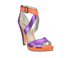 Check out my shoe design via @shoesofprey - http://www.shoesofprey.com/shoe/1rKqo       Current obsession: Purple & Orange