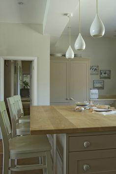 Farrow and Ball  Wall: Shaded White No.201 Modern Emulsion   Woodwork: London Stone No.6 Estate Eggshell   Ceiling: Strong White No.2001 Modern Emulsion