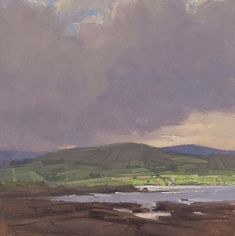 Towards Ballyglass, Oil on canvas, 8 x 8 inches - Jeffrey Reed