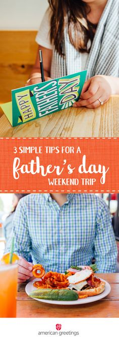 Celebrate all that your husband or dad does with a truly relaxing gift idea. These 3 Simple Tips for a Father's Day Weekend Trip are sure to inspire you with unique and thoughtful ways you can treat the awesome dads in your life. From sightseeings to a sentimental greeting card from Target, this mini adventure is sure to be a memorable one.