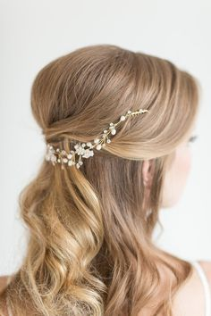 Hey, I found this really awesome Etsy listing at https://www.etsy.com/listing/266780963/wedding-hair-vine-bridal-head-piece