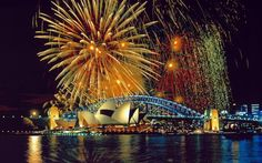 fireworks in Sydney, Australia over the Opera House.I want my husband and me to kiss underneath these fireworks. Places Around The World, Oh The Places You'll Go, Places To Travel, Places To Visit, Around The Worlds, Dream Vacations, Vacation Spots, Summer Vacations, Vacation Travel