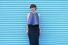 Self-drafted top by Katy & Laney