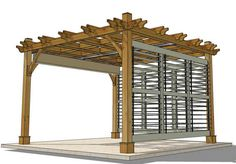 pergola plans with shutters