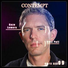 Can look contempt facial expression