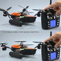 Only US$71.99, black eu WLtoys Q353 2.4G Aeroamphibious Drone Air Land Sea Mode 3 in 1 - Tomtop.com