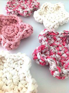 Porta copo de crochê, flores
