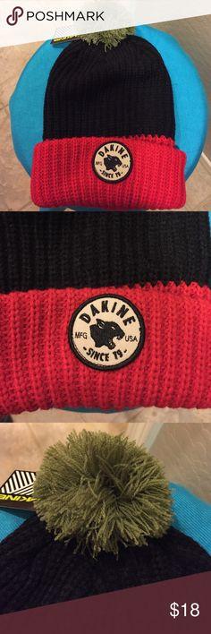 🆕 Dakine Pom Pom Beanie Authentic Dakine Pom Pom Beanie. Red/Black/Moss Green. Dakine Patch on the Front. Ribbed Red Cuff. 100% Acrylic. Brand New. Excellent Condition. No Trades. Dakine Accessories