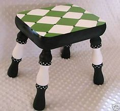 Cute painted stepping stool...