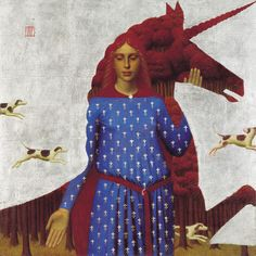 "Andrey Remnev. This pose is commonly found in religious ikons. ""Unicorn"", 2004"