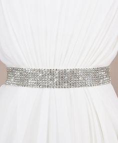 Eight Row Coy Sash | Kirsten Kuehn || handmade crystal bridal sashes, embellished hair accessories & more