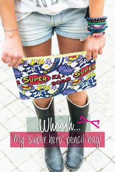 My 'super hero' pencil bag! Pencil Bags, Casual Shorts, Superhero, Collection, Women, Fashion, Moda, Fashion Styles, Pencil Organizer