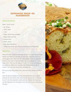 Kruie en Kaasbrood DEEL 1 Rusk Recipe, South African Recipes, Atkins Diet, Bread Rolls, Scones, Bread Recipes, Muffins, Cabbage, Food And Drink