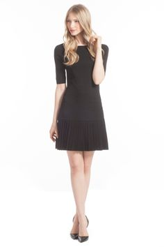 Black Elbow Sleeve Lisette Sweater Dress