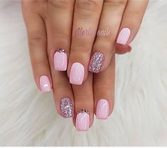 Nail Shapes - My Cool Nail Designs Nail Designs Spring, Nail Art Designs, Nails Design, Cute Nails, Pretty Nails, Hair And Nails, My Nails, Uñas Fashion, Dipped Nails