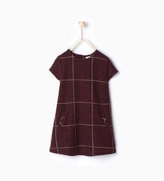 Image 1 of Shiny check dress from Zara