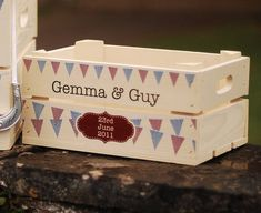 Personalised Wedding Bunting Small Crate