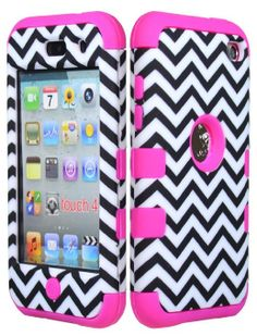 iPod Touch 4th Gen ANCHOR HARD /& SOFT RUBBER HYBRID HIGH IMPACT CASE CHEVRON