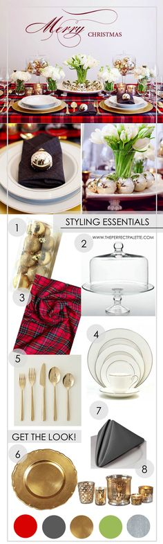 Setting Your Table for the Holidays:  www.theperfectpalette.com  8 Styling Essentials
