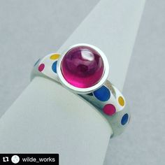 Gorgeous ruby ring made by @wilde_works with brightly coloured highlights of our new Resin8 1 to 1 Epoxy Resin.  #wow #inspiration #resinart #resinjewellery