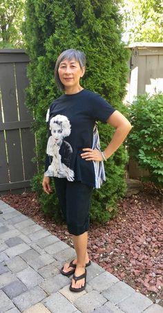 Ellie T-shirt – Paganoonoo Shirt Transformation, Cycling Outfit, Cycling Clothing, Sewing Tutorials, Sewing Ideas, Clothing Hacks, Needle And Thread, Pattern Fashion, Clothing Patterns