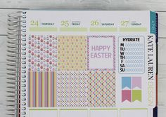Easter Weekly Planner Sticker Kit for Erin Condren Easter Kit Easter Weekly Kit Planner Stickers Easter Planner Stickers