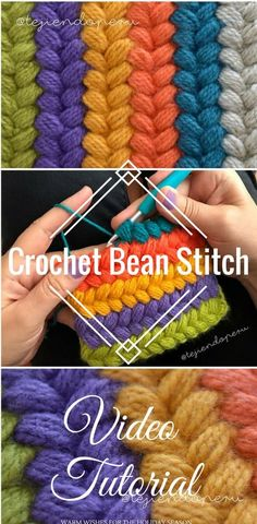 The crochet bean stitch looks great in any pattern and is really simple to do once you've learned it with this video tutorial.