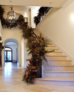 Christmas Garland Ideas Staircase   74 decorating christmas garland Staircase Design Photos