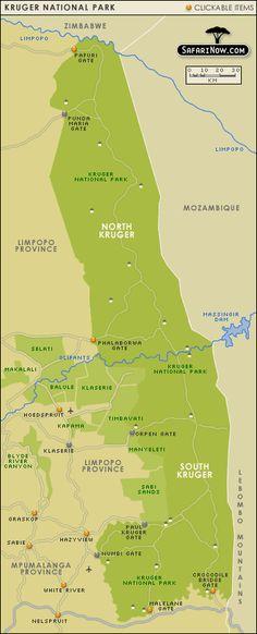 Kruger National Park map National Parks Map, Kruger National Park, Africa Travel, Africa Map, Africa Destinations, Heavenly Places, African Safari, Cartography, Travel Photographer