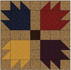 This block is super easy but looks really complicated, great for a Quilt in a Weekend. I have a lot of customers that ask for this quilt pattern for cabins and log homes. It is great for a bed or a throw quilt.