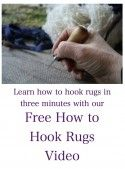 Free How to Hook Rugs Video