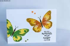 Blog: www.bastelkunst.blogspot.de FB: Bastelkunst  Stampin Up, Karte, Dank, Glückwunsch, Schmetterling, Watercolor Wings