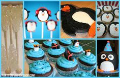penguin party ideas, food and drink