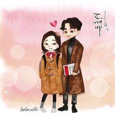 Ost Goblin, Goblin Art, Goblin Kdrama Fanart, Fated To Love You, Cute Couple Cartoon, Drama Fever, Weightlifting Fairy, Gong Yoo, Drama Korea