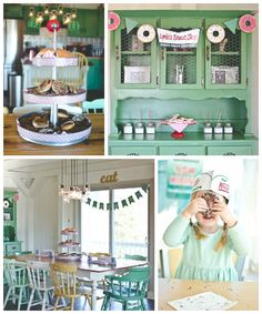 Vintage Donut Shop Themed Birthday Party via KARA'S PARTY IDEAS