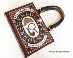 Hey, I found this really awesome Etsy listing at https://www.etsy.com/listing/253730295/sherlock-holmes-book-purse-sherlock-book