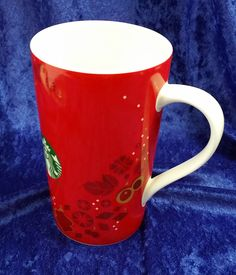 Starbucks Christmas 2013 Red & Gold Ornaments Tall Coffee Mug Cup 16 oz Starbucks Christmas, Christmas Mugs, Tall Coffee Mugs, Gold Ornaments, Mug Cup, Red Gold, Barware, Cups, Tableware