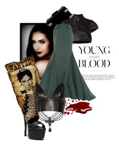 """Young Blood :Wanted"" by the-house-of-kasin ❤ liked on Polyvore featuring 1928, CC SKYE, Iris van Herpen, Zac Posen, T By Alexander Wang, Steve Madden and maxiskirts"