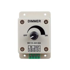 XtraLED PWM Dimming Controller for LED Lights, Ribbon, Strip, 12 - 24 Volt (12V - 24V) 8 Amp, Electrical Dimmer Switches for Home, Commercial, Industrial, and Office. Dimmer is compatible with Hilight, LEDwholesaler, fillite, and others' strips - PWM dimmer is built for low voltage lights and strip, you get soft, stable dimming effects with no flickering with your lights & ribbon. This dimmer is the same as other sellers selling such as Hilight, LEDwholesaler, fillite, and even amazon. This…